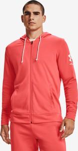 Czerwona bluza Under Armour z bawełny w sportowym stylu