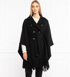 Czarny płaszcz Pinko z wełny w stylu casual