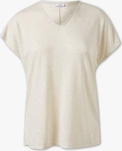 T-shirt YESSICA w stylu casual z krótkim rękawem z płótna