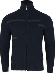Granatowy sweter J&h w stylu casual z wełny
