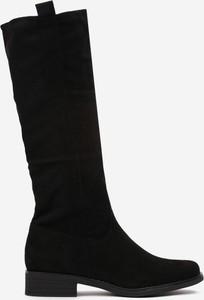 Czarne kozaki Multu przed kolano
