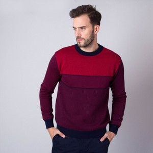 Czerwony sweter Willsoor w stylu casual