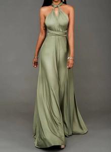Zielona sukienka Cikelly maxi bez rękawów gorsetowa