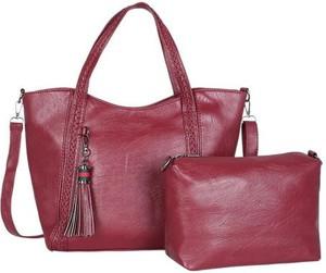 Czerwona torebka Cikelly duża lakierowana na ramię