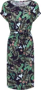 Sukienka Vero Moda z tkaniny z okrągłym dekoltem
