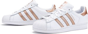 Trampki Adidas superstar z płaską podeszwą sznurowane