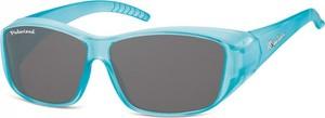Stylion Niebieskie Okulary z Polaryzacją HD Fit Over dla Kierowców, na Okulary Korekcyjne FO4F