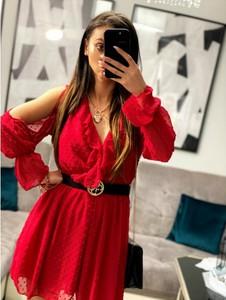 Sukienka Smlfashion.pl mini kopertowa z długim rękawem