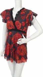 Sukienka Sweet Pea By Stacy Frati z krótkim rękawem z dekoltem w kształcie litery v mini