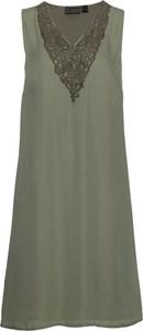 Zielona sukienka bonprix bpc selection z dekoltem w kształcie litery v