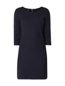 Niebieska sukienka Only z okrągłym dekoltem mini z długim rękawem