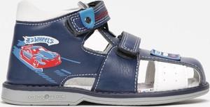 Niebieskie buty dziecięce letnie born2be na rzepy