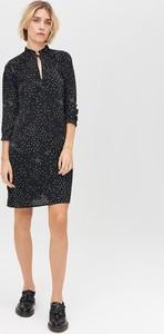 Czarna sukienka FEMESTAGE Eva Minge w stylu casual z długim rękawem mini