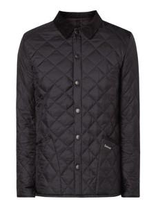 Czarna kurtka Barbour w stylu casual ze sztruksu