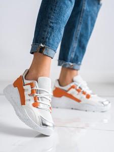 Buty sportowe Czasnabuty z zamszu z płaską podeszwą