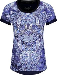 Niebieska bluzka Desigual z krótkim rękawem