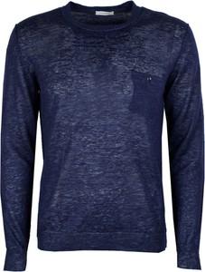 Niebieski sweter Paolo Pecora z tkaniny