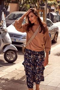 Bluzka Style z bawełny z okrągłym dekoltem