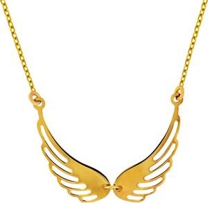 db06d05106e4e4 naszyjniki celebrytki złote. producent niezdefiniowany Naszyjnik złoty  skrzydła anioła