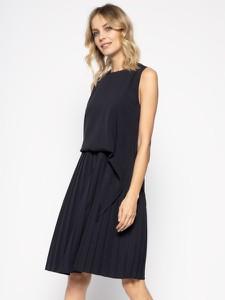 Czarna sukienka Marella z okrągłym dekoltem