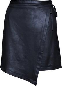 Niebieska spódnica JO-LI z dzianiny w rockowym stylu