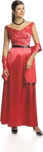 Sukienka Fokus w stylu glamour rozkloszowana z dekoltem w kształcie litery v