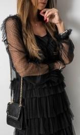 Czarna sukienka Fashion Manufacturer