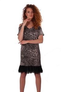 Sukienka Niren z bawełny z krótkim rękawem