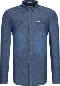 Koszula Guess Jeans z długim rękawem z klasycznym kołnierzykiem