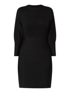 Czarna sukienka Guess w stylu casual mini z okrągłym dekoltem