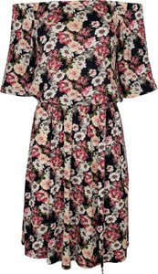 Sukienka KARKO z krótkim rękawem z dzianiny hiszpanka
