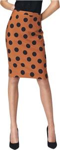 Brązowa spódnica Nife midi