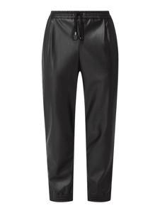 Czarne spodnie DKNY ze skóry ekologicznej