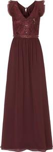 Sukienka Vm By Vera Mont rozkloszowana z dekoltem w kształcie litery v