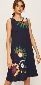 Sukienka Desigual bez rękawów mini z okrągłym dekoltem