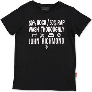 Czarna koszulka dziecięca John Richmond