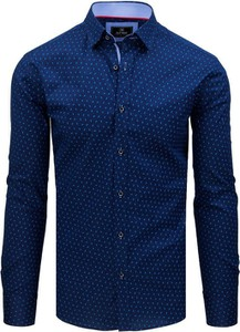 Niebieska koszula Dstreet z kołnierzykiem button down z długim rękawem z bawełny