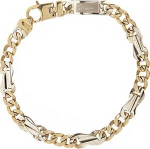 Italian Finest Mens Jewelry Bransoletka dla Mężczyzn, White Gold, 18 kt White Gold, 2017
