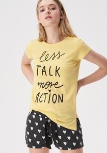 Żółta piżama Sinsay w stylu casual