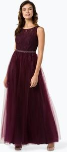 Czerwona sukienka Luxuar Fashion maxi rozkloszowana bez rękawów