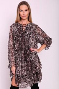 Sukienka Agrafka w stylu casual z długim rękawem