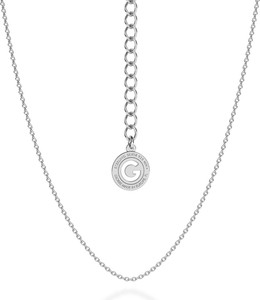 GIORRE SREBRNY DELIKATNY ŁAŃCUSZEK ANKER 925 : Długość (cm) - 45 + 5, Kolor pokrycia srebra - Pokrycie Różowym 18K Złotem