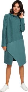 Niebieska sukienka Be z dzianiny w stylu casual