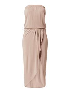Różowa sukienka Urban Classics maxi bez rękawów z odkrytymi ramionami