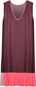 """Czerwona sukienka Twin-set Sukienka """"transparent Dress"""" mini z dekoltem w kształcie litery v z tkaniny"""