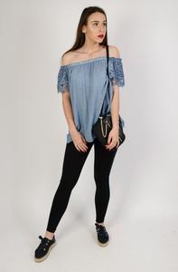 Niebieska bluzka Olika w stylu casual