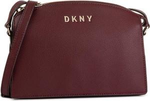 Czerwona torebka DKNY matowa na ramię