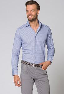 Niebieska koszula LANCERTO z długim rękawem