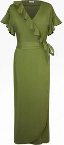 Sukienka Bien Fashion z krótkim rękawem kopertowa