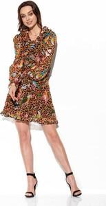 Sukienka Lemoniade mini rozkloszowana z dekoltem w kształcie litery v
